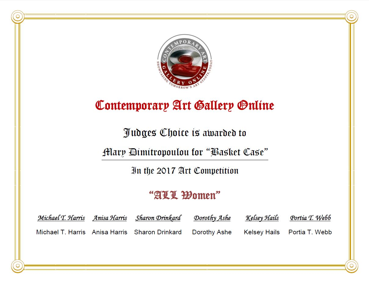 certificate - CAGO judges' choice
